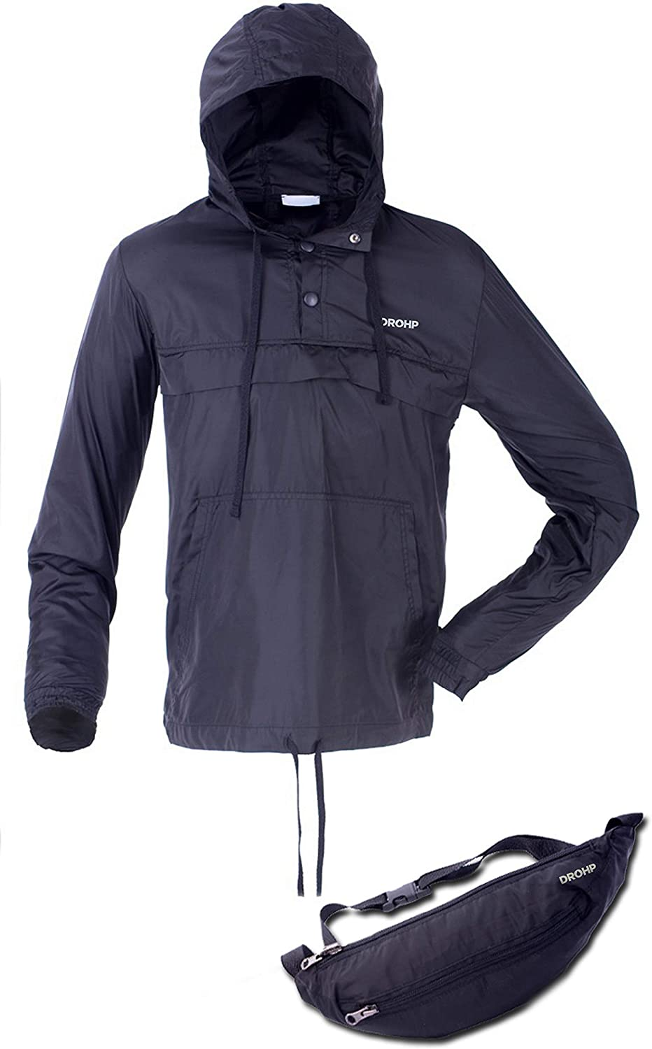 DROHP Anorak Jacket That Stows in A Fanny Pack …
