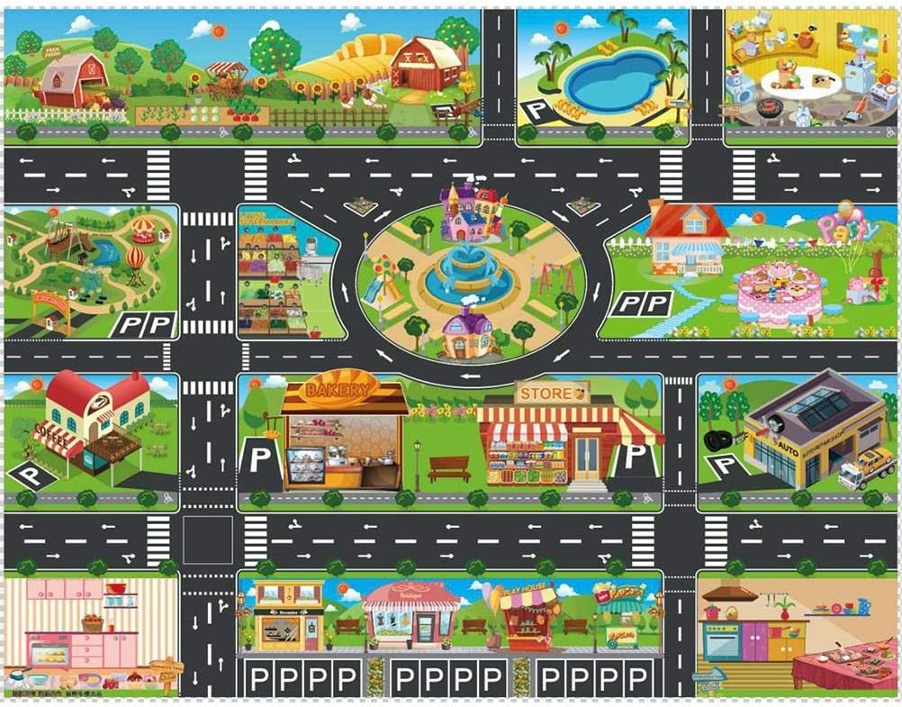 IYSHOUGONG 1 PC Kids Carpet Playmat Traffic Park Rug Max Directly managed store 81% OFF City Car Ma