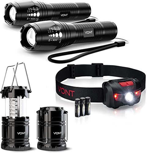 2021 Vont Family Camping Starter Pack high quality - Blaze 2-Pack Flashlights + 2-Pack LED Camping Lanterns + Tron Flashlight - Ideal Outdoor Lighting Bundle for Adventures 2021 - Must-Have for Emergencies & Power Outages sale