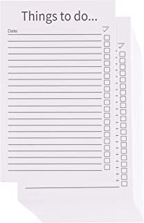 To-Do List Cards - 200-Pack Things to Do Index Card, Thick Cardstock, Everyday Checklist Vertical Card, Double Sided, White Cardstock Paper, 3.2 x 5.1 Inches