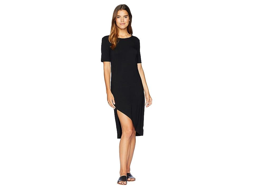 BB Dakota Off Duty Side Slit Knit Dress (Black) Women