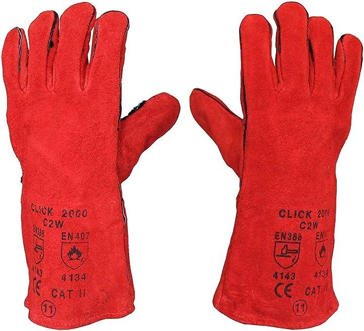 guanti per saldatura guanti lunghi in pelle resistenti al calore tekni 9717395