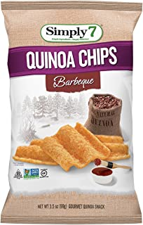 Simply7 Quinoa Chips, Gluten Free, Barbeque, 3.5 Ounce (Pack of 12)