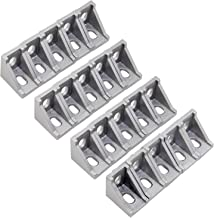 OCR 20PCS 2 Hole Corner Bracket Right Angle 20Series Aluminum Brackets for Aluminum Extrusion Profile with Slot 6mm