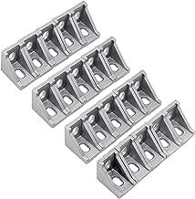 OCR 20PCS 2 Hole Corner Bracket Right Angle 20Series Aluminum Brackets for Aluminum Extrusion Profile with Slot 6mm