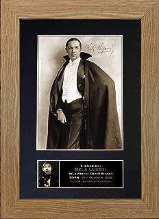 #311 BELA Lugosi Signed Autograph Photo Reproduction Print A4 Rare Perfect Birthday (297 x 210mm) (Oak Veneer Frame)