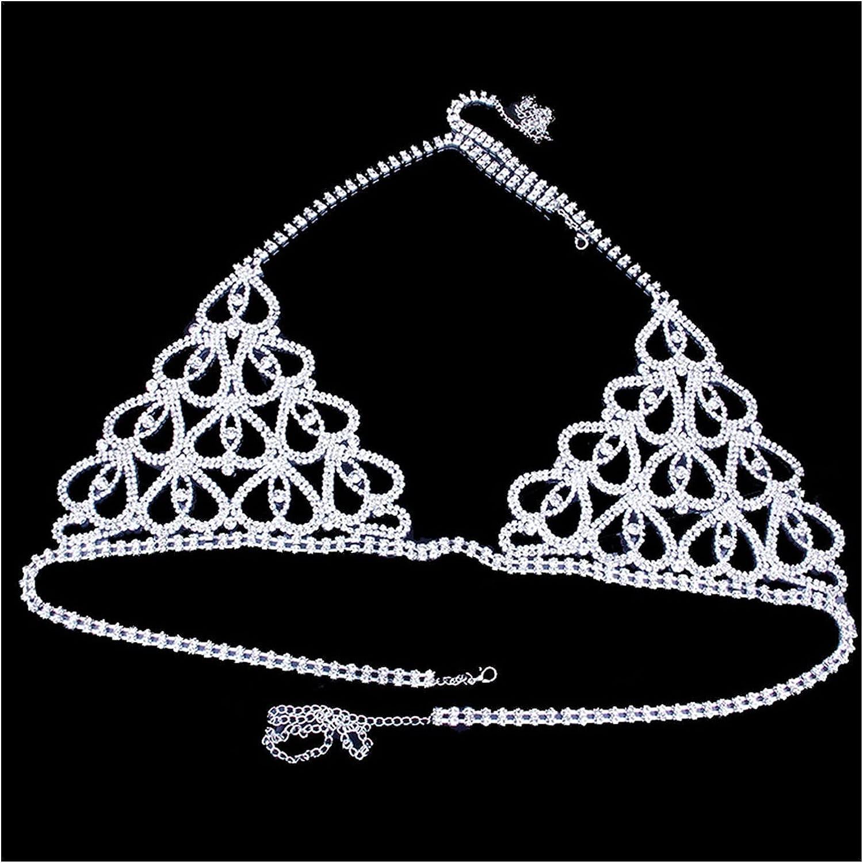 YHMY Women's Body Chains Heart Chain Bikini Daily bargain sale Price reduction Crytal Harness
