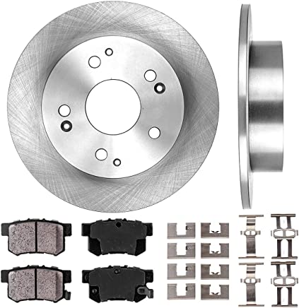 REAR KIT BLACK HART DRILLED SLOTTED BRAKE ROTORS AND CERAMIC PAD BHCR.65102.02