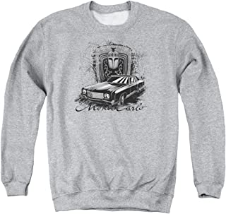 Chevrolet Monte Carlo Drawing Unisex Adult Crewneck Sweatshirt for Men and Women