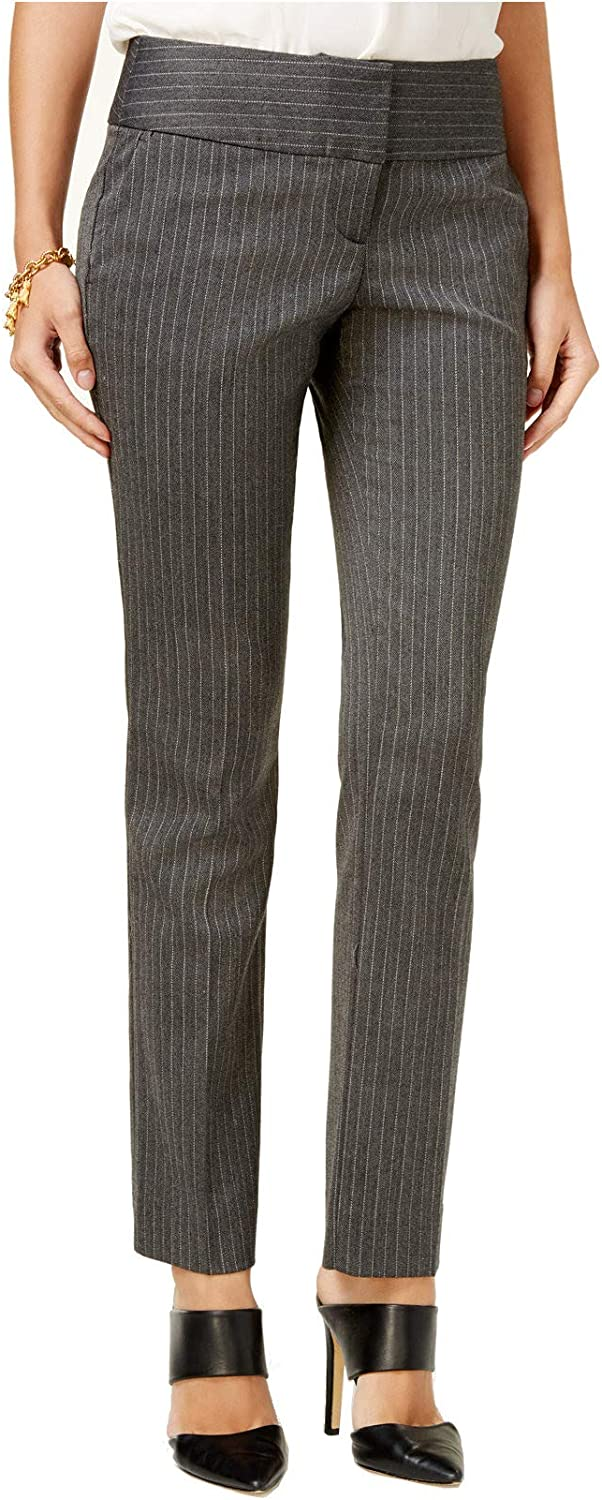 BCX Womens Juniors Comfort Waist Pinstripe Dress Pants