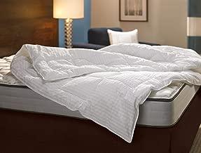 Fairfield by Marriott Down Alternative Blanket - Cozy Hypoallergenic Comforter Exclusively by Marriott - White-on-White Stripe - Queen