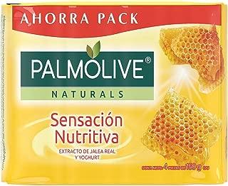 Jabon Palmolive Naturals Sensacion Nutritiva 4 Pack 150 g / 5.29 oz Soap Bars Yogurt and Honey Classic Bathing Natural Mexican Smooth Soothing Gentle Scent foaming Shower Bath Choose Yoghurt y Miel