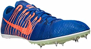 Zoom Victory Distance Track Spikes Shoes Mens Size 11.5 Blue Orange