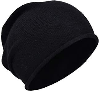 Jaxmonoy Winter Knit Beanie Hats for Women ,Cashmere Wool Blend Warm Soft Knitted Slouchy Skully Beanies Cap Hat