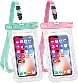 GLBSUNION Universal Waterproof Case, IPX8 Water Proof Phone Pouch Dry Bag Compatible for iPhone Xs Max/XR/X/8/8P/7/7P Gala...