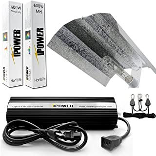 iPower GLSETX400DHMWING 400 Watt HPS MH Digital Dimmable Grow Light System Kits Wing Reflector Set, 400W