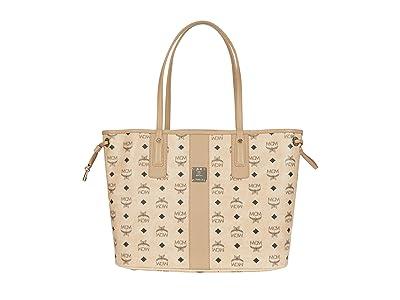 MCM Shopper Project Visetos Shopper Medium (Beige) Handbags