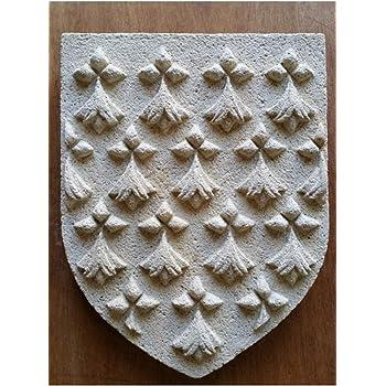 Sculpture blason Normandie en pierre reconstituée hydrofugée