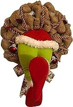Cimaybeauty How the Christmas thief Stole Christmas BurlapWreath (L)