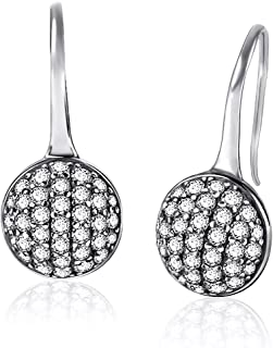 Twenty Plus Round Dazzling Droplets Earrings With Clear CZ