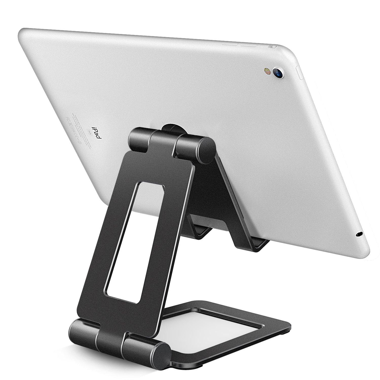adjustabe 平板电脑支架夹 ipad 代表手机 ipad pro ipad mini nintendo 交换机4–30.48cm A-Gray-1 M