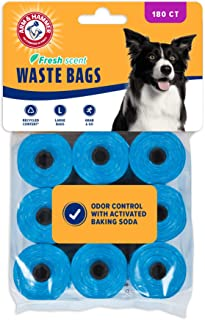 Arm & Hammer Easy-Tear Disposable Waste Bag Refills Assorted Colors Various Multi-packs Available, Blue, 180-pack