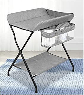 Touching Portable Foldable Bed Bath Changing Diaper Wet Newborn Baby Mobile Nursery Organizer Baby Changing Stations Baby Products Diaper Adjustable Height,Table Baby Care Table (Color : A)