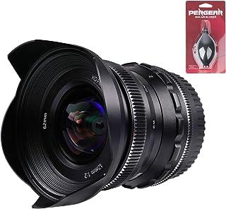 PERGEAR 12mm F2 広角マニュアルフォーカス単焦点レンズ APS-C Fuji Xマウントカメラ対応 X-A1 X-A10 X-A2 X-A3 A-AT X-M1 XM2 X-T1 X-T3 X-T10 X-T2 X-T20 X-T...