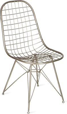 Boho Traders Wire Mesh Chair, Silver