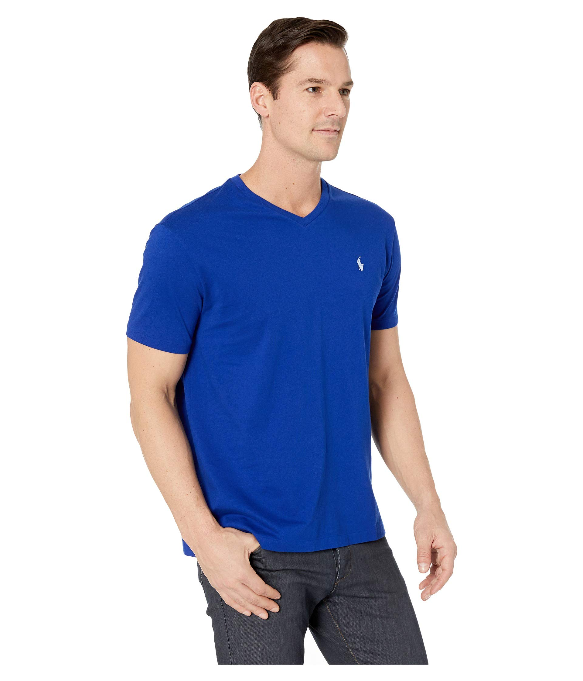 Ralph neck Classic Polo Heritage T Fit Jersey 1 Short Sleeve Lauren 26 Royal shirt V AzwYwOWdaq