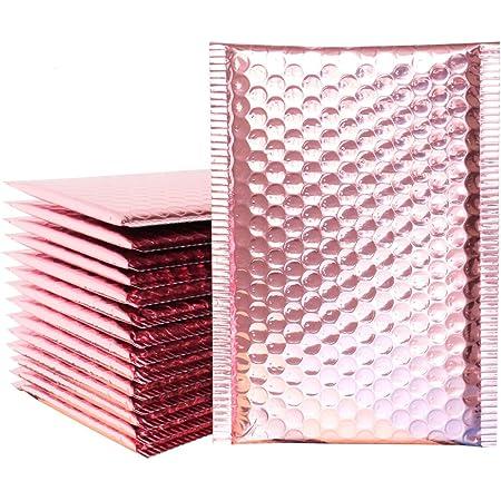 selbstklebend gef/üttert 10 St/ück Hot Pink 13 x 18 cm Poly-Umschlag Luftpolsterumschl/äge