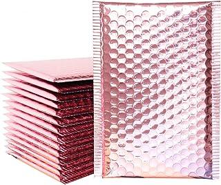 iSuperb 20 Stück Gepolsterte Briefumschläge Seal Bubble Taschen Bubble Versandbeutel Plastik Luftpolstertaschen Bubble Mailer Pink