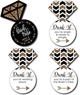 Big Dot of Happiness Drink If Game - Bride Tribe - Bridal Shower & Bachelorette Party Game Cards - 24 Count