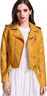 Best mustard leather jacket Reviews