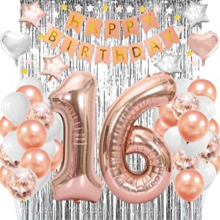 Sweet 16 Party Supplies-16th Birthday Rose Gold Sweet 16 Gifts for Girls