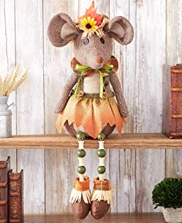 The Lakeside Collection Autumn Harvest Shelf Sitter Decoration - Mouse