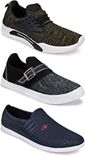Earton Combo Pack of 3 Sports and Running Shoe for Men