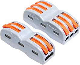 Best 20PCS Compact Splicing Wire Connector Box,2 and 3 Circuit Conductor Connector (SPL-3/SPL-2) Review