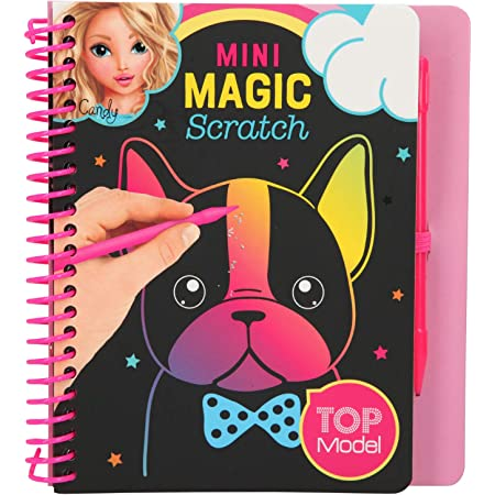 Depesche TopModel 10708 Mini Magic Scratch Book - Libro para Colorear