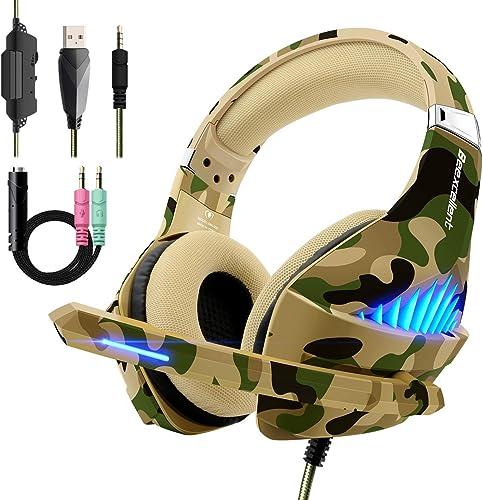 Beexcellent Casque Gaming pour PS4 Xbox One, Casque Gamer Son Surround Stéréo Over-Ear avec Micro Anti Bruit Dernier ...