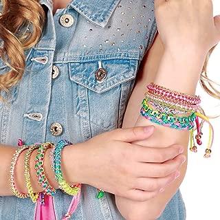 Style Me Up - Pink Braided Gem Bracelet for Girls - Kids Fashion Jewelry - SMU-11011