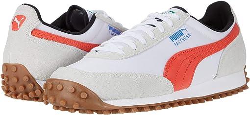 Puma White/Hot Coral