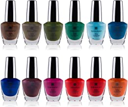 SHANY Nail Polish Set - 12 Bold and Quirky Shades in Gorgeous Semi Glossy and Shimmery Finishes - Funky Collection