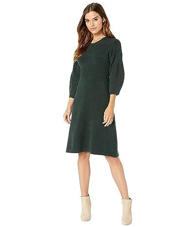 Kate Spade New York Textured Sweater Dress (Deep Spruce) Women