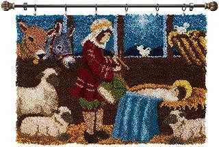 Herrschners/® Winter Deer Stream Kit /& Hanger Set of 2 Latch Hook Kit