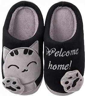 comprar comparacion ChayChax Zapatillas de Estar por Casa Lindo Animados para Niños Mujer Hombre Invierno Pelusa Forro Pantuflas Interior de M...