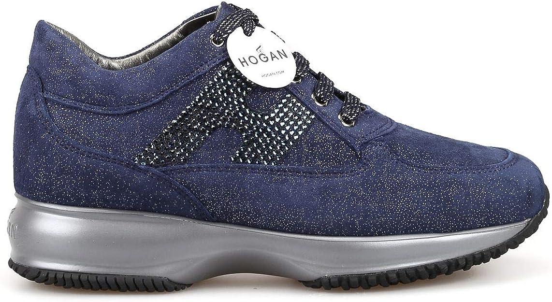Hogan Luxury Fashion Donna HXW00N02010LJWU805 Blu Camoscio ...