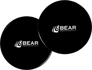 Bear Core Slider Workout Sliders – Exercise Slider Gliders Exercise Discs - for Abdominal Ab Training and Pilates (Pair)