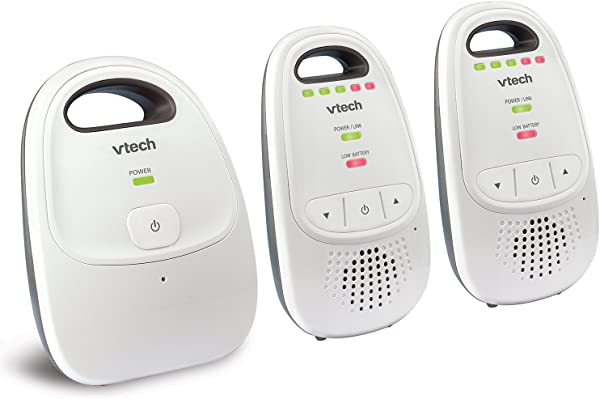 VTech DM112 2 Audio Baby Monitor With Up To 1 000 Ft Of Range 5 Level Sound Indicator Digitized Transmission Belt Clip With Two Parent Units