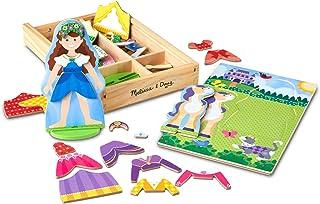 Melissa & Doug Princess & Horse Magnetic Dress-Up Wooden Dolls Pretend Play Set (35 Pcs)